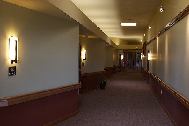Interior photos of the Hospice of North Idaho hospice house in Hayden, Idaho.