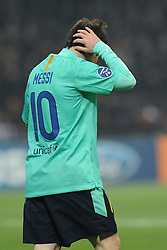 23.11.2011, Giuseppe Meazza Stadion, Mailand, ITA, UEFA CL, Gruppe H, AC Mailand (ITA) vs FC Barcelona (ESP), im Bild Lionel MESSI (Barcellona) // during the football match of UEFA Champions league, group H, between Gruppe H, AC Mailand (ITA) and FC Barcelona (ESP) at Giuseppe Meazza Stadium, Milan, Italy on 2011/11/23. EXPA Pictures © 2011, PhotoCredit: EXPA/ Insidefoto/ Alessandro Sabattini..***** ATTENTION - for AUT, SLO, CRO, SRB, SUI and SWE only *****
