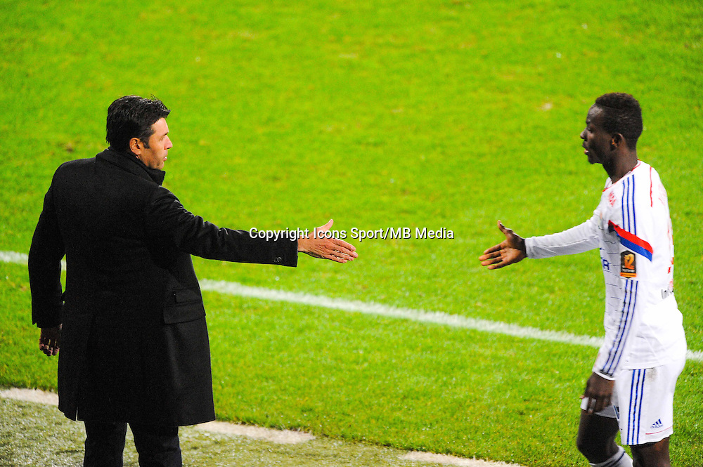 Hubert FOURNIER / Mohamed YATTARA  - 04.12.2014 - Lyon / Reims - 16eme journee de Ligue 1  <br /> Photo : Jean Paul Thomas / Icon Sport