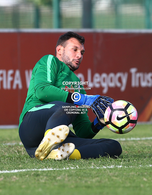 Darren Keet G/K of (Bafana Bafana) South Africa during the Bafana Bafana Training at People's Park, Moses Mabhida Stadium in Durban,21st March 2017 (Steve Haag)