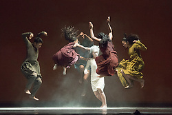 © Licensed to London News Pictures. 09/06/2014. London, UK. Dancers perform Akram Khan's Company's latest ensemble production iTMOi (in the mind of Igor) at Sadler's Wells Theatre, London.  Photo credit : Tony Nandi/LNP