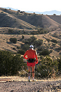 Runners compete in the Old Pueblo 50 Mile Endurance Run on March 3, 2012, in the Santa Rita Mountains in Sonoita, Arizona, USA.  The race included parts of the Arizona National Scenic Trail and the Coronado National Forest.
