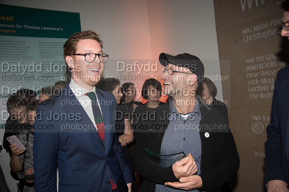 Dr Nicholas Cullinan, Director ; CLAUDIO RASANO Private view of the Taylor Wessing Portrait prize, National Portrait Gallery, London.  15 November 2016