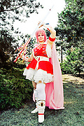 A cosplayer at the Anime fest 2012 in the city of Brno, Czech Republic..Animefest is the oldest and largest anime and manga convention in the Czech Republic with around 1600 attendees in 2011. The festival offers a mix of contests (e.g. cosplay and AMV), workshops, seminars and anime screening...