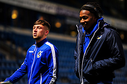 Rhys Kavangh and Gabriel Osho of Bristol Rovers arrives at The Medway Priestfield Stadium prior to kick off - Mandatory by-line: Ryan Hiscott/JMP - 12/03/2019 - FOOTBALL - The Medway Priestfield Stadium - Gillingham, England - Gillingham v Bristol Rovers - Sky Bet League One