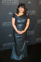 Autor Erika Leonard James attends Fifty Shades Freed world premiere at Salle Pleyel on February 06, 2018 in Paris, France. Photo by ABACAPRESS.COM
