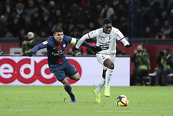 January 27, 2019 - Paris, Ile de France, France - Thiago Silva (PSG), Ismaila SARR  (Credit Image: © Panoramic via ZUMA Press)