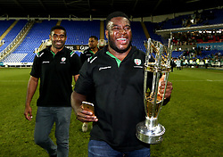 London Irish lift the Greene King IPA Championship trophy - Mandatory by-line: Robbie Stephenson/JMP - 24/05/2017 - RUGBY - Madejski Stadium - Reading, England - London Irish v Yorkshire Carnegie - Greene King IPA Championship Final 2nd Leg