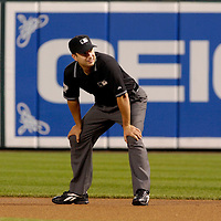 25 September 2007:  Umpire Jim Reynolds in action during the game between the Toronto Blue Jays and the Baltimore Orioles.  The Blue Jays defeated the Orioles 11-4 at Camden Yards in Baltimore, MD.  ****For Editorial Use Only****