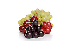 Grapes on white background - close up