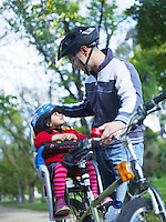 Father and Daughter on Bike Ride