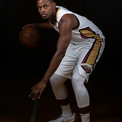 Sep 24, 2018; New Orleans, LA, USA; New Orleans Pelicans forward Darius Miller (21) poses for a portrait during Media Day at Ochsner Performance Center. Mandatory Credit: Derick E. Hingle-USA TODAY Sports