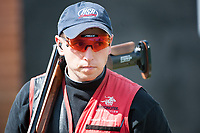 London, England, 21-04-12. Vincent HANCOCK (USA) competes in the ISSF World Cup Skeet Finals, Royal Artillery Barracks, London. Part of the London Prepares Olympic preparations. Nillson went on to win gold