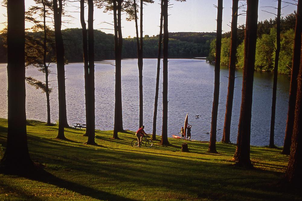 Bicycling, kayak, York County Park and Lake, Pennsylvania
