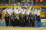 Almeria, 01/07/2005<br /> Finale Giochi del Mediterraneo Almeria 2005<br /> Premiazione Italia<br /> team e staff italia