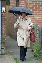 © Licensed to London News Pictures . 03/06/2014 . Newark , Nottinghamshire , UK . Maria Eagle campaigning for Labour in Newark today (Tuesday 3rd June 2014) ahead of the by-election due to take place on Thursday (5th June 2014) . Photo credit : Joel Goodman/LNP