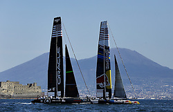 17.04.2013, Neapel, ITA, Americas Cup World Series 2013, im Bild Oracle (USA) e HS Racing (USA) // during Americas Cup World Series 2013 Napoli, Italy on 2013/04/17. EXPA Pictures © 2013, PhotoCredit: EXPA/ Insidefoto/ Matteo Ciambelli ***** ATTENTION - for AUT, SLO, CRO, SRB, BIH and SWE only *****