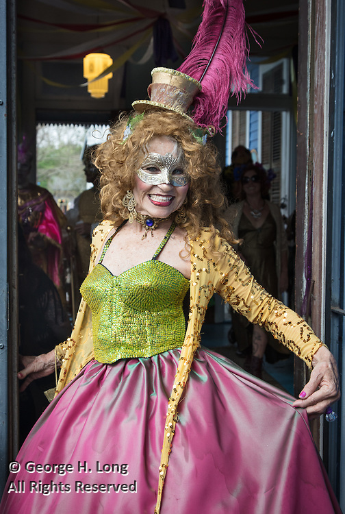 Vivian Rose at Marcus' house early on Mardi Gras in New Orleans 2017