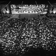"The World Youth Symphony Orchestra performs during ""Collage"" at Kresge Auditorium at Interlochen Center for the Arts in Interlochen, Michigan. ""Collage,"" is one of Interlochen's most popular annual Camp events, showcasing a sample of student performances encompassing music, dance, theatre, creative writing, motion picture arts, and visual arts."