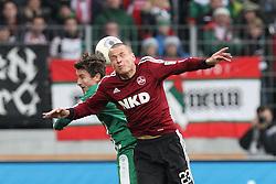 16.02.2014, SGL Arena, Augsburg, GER, 1. FBL, FC Augsburg vs 1. FC Nuernberg, 21. Runde, im Bild l-r: im Zweikampf, Aktion, Kopfballduell mit Paul VERHAEGH #2 (FC Augsburg), Adam HLOUSEK #23 (1 FC Nuernberg) // during the German Bundesliga 21th round match between FC Augsburg and 1. FC Nuernberg at the SGL Arena in Augsburg, Germany on 2014/02/16. EXPA Pictures © 2014, PhotoCredit: EXPA/ Eibner-Pressefoto/ Kolbert<br /> <br /> *****ATTENTION - OUT of GER*****