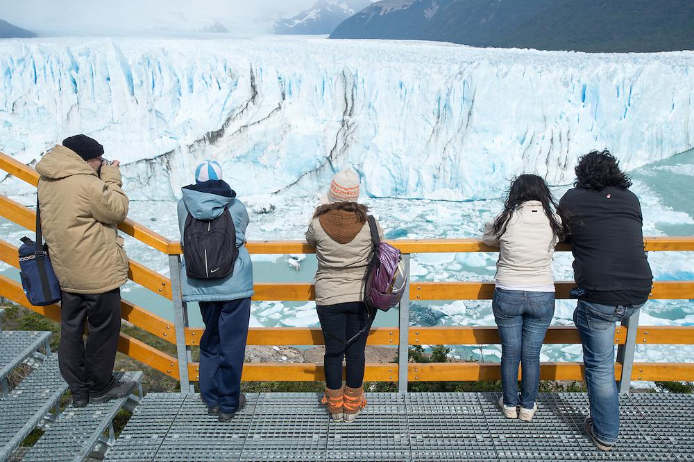Tourists, Perito Moreno Glacier<br /> Los Glaciares National Park Argentina