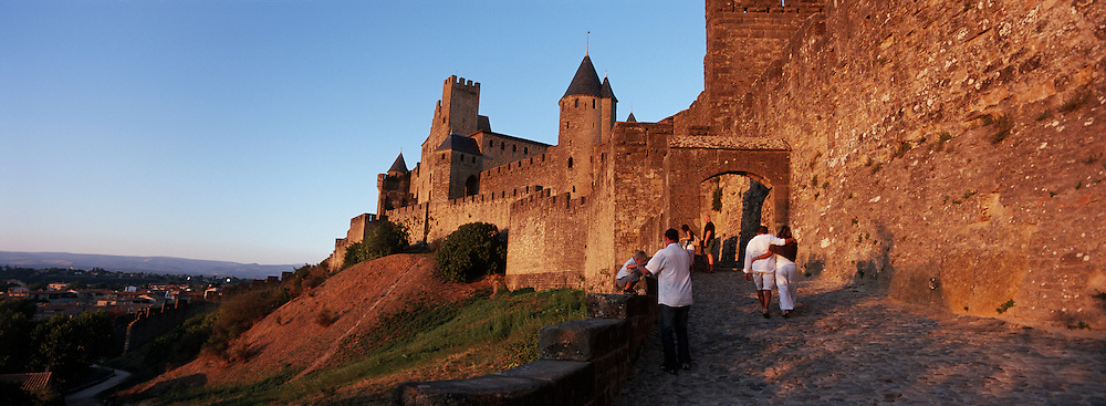 France, Aude, Cascassonne, Cite, Fortified City