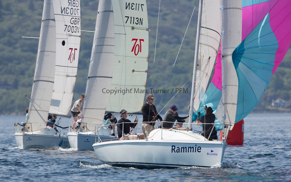 Silvers Marine Scottish Series 2017<br /> Tarbert Loch Fyne - Sailing<br /> <br /> GBR7061N, Rammie, M Fleming/D Smith, ASYC