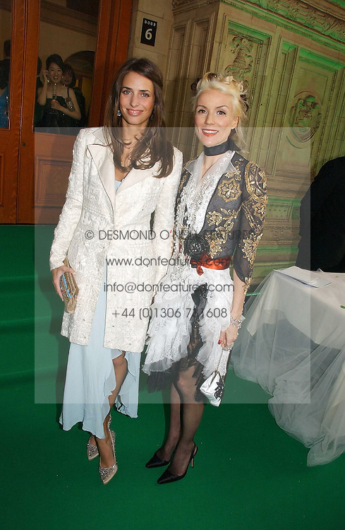Left to right, MARINA HANBURY and DAPHNE GUINNESS at the NSPCC's Dream Auction held at The Royal Albert Hall, London on 9th May 2006.<br />