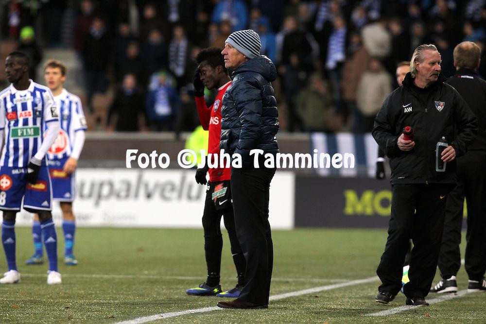 1.11.2014, Sonera Stadion, Helsinki.<br /> Suomen Cup 2013, loppuottelu Helsingin Jalkapalloklubi - FC Inter Turku.<br /> Valmentaja Job Dragtsma - Inter