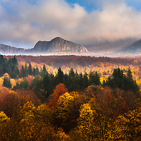 Endless forests of Balkan Mountains in autumn