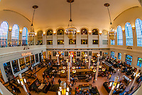 The newly renovated interior (The Great Hall) of Union Station in Downtown Denver, Colorado USA. The upper floors of the building are now the Crawford Hotel.