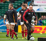 Twickenham, Great Britain, Wales defence coach, Shaun EDWARDS, overseeing the pregame training session, Pool A game, Australia vs Wales.  2015 Rugby World Cup,  Venue, Twickenham Stadium, Surrey, ENGLAND.  Saturday  10/10/2015.   [Mandatory Credit; Peter Spurrier/Intersport-images]