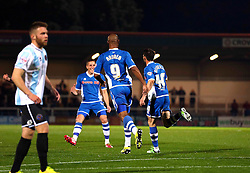 Ian Henderson of Rochdale celebrates after scoring his sides second goal - Mandatory byline: Matt McNulty/JMP - 07966386802 - 29/09/2015 - FOOTBALL - Spotland Stadium -Rochdale,England - Rochdale v Shrewsbury - SkyBet League One