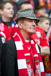 LONDON, ENGLAND - Saturday, April 14, 2012: A Liverpool supporter during the FA Cup Semi-Final match against Everton at Wembley. (Pic by David Rawcliffe/Propaganda)