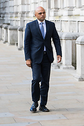 Cabinet Office, London, June 4th 2017. Communities and Local Government Secretary Sajid Javid arrives at the Cabinet Office in Whitehall for the emergency COBRA Committee meeting following the London Bridge and Borough Markets terrorist incident which claimed the lives of six members of the public and injured over twenty more.