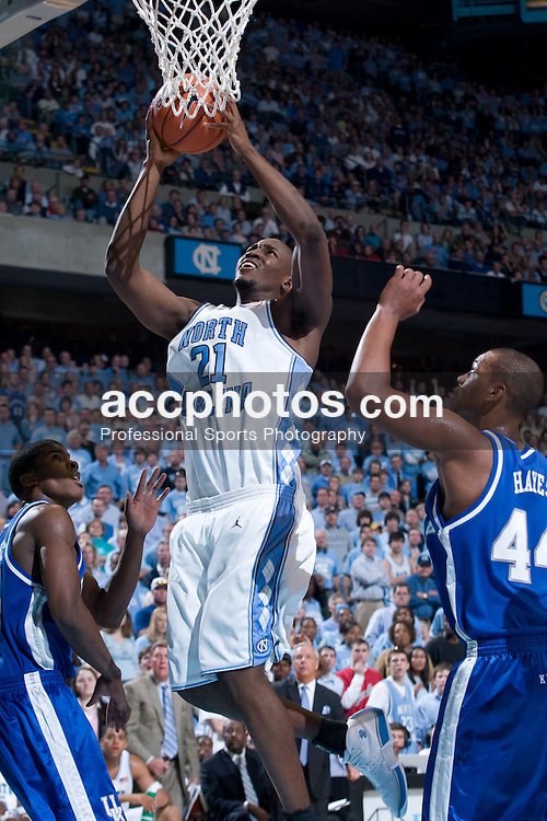 04 December 2004: North Carolina Tar Heels forward Jawad Williams (21) in a 91-78 win over the Kentucky Wildcats in Chapel Hill, NC.