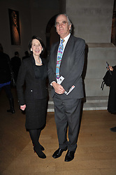 MARJORIE SUSMAN wife of the US amabassador to the UK and SIR RICHARD CAREW-POLE at a private view of the Royal Academy's Modern British Sculpture exhibition held at Burlington House, Piccadilly, London on 18th January 2011.