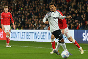 Derby County midfielder Duane Holmes (23) during the EFL Sky Bet Championship match between Derby County and Charlton Athletic at the Pride Park, Derby, England on 30 December 2019.