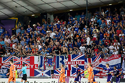 Supporters of Rangers FC during 2nd Leg football match between NK Maribor and Rangers FC in 3rd Qualifying Round of UEFA Europa League 2018/19, on August 16, 2018 in Stadion Ljudski vrt, Maribor, Slovenia. Photo by Urban Urbanc / Sportida