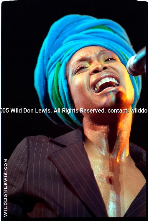 Erykah Badu at the Greek Theatre, Los Angeles, CA, Aug. 9, 2005.