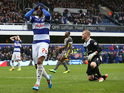 Queen Park Rangers' Matt Phillips is disappointed his shot goes wide - Photo mandatory by-line: Robin White/JMP - Tel: Mobile: 07966 386802 21/12/2013 - SPORT - FOOTBALL - Loftus Road - London - Queens Park Rangers v Leicester City - Sky Bet Championship