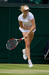 LONDON, ENGLAND - Tuesday, July 1, 2014: Ekaterina Makarova (RUS) during the Ladies' Singles Quarter-Final match on day eight of the Wimbledon Lawn Tennis Championships at the All England Lawn Tennis and Croquet Club. (Pic by David Rawcliffe/Propaganda)