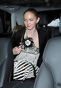 LILY COLE LEAVING THE AFTERPARTY FOR HER NEW FILM THE IMAGINARIUM OF DOCTOR PARNASSUS WHICH WAS HELD AT THE LANGHAM HOTEL LOOKING A LITTLE WORSE FOR WEAR, LONDON, UK. 06/10/2009<br /> <br /> BYLINE: EDBIMAGEARCHIVE.COM<br /> <br /> *THIS IMAGE IS STRICTLY FOR UK NEWSPAPERS AND MAGAZINES ONLY FOR WORLD WIDE SALES AND WEB USE PLEASE CONTACT EDBIMAGEARCHIVE - 0208 954 5968