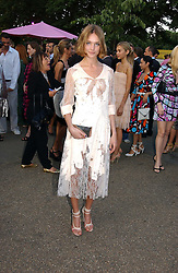 NATALIA VODIANOVA at the Serpentine Gallery Summer party sponsored by Yves Saint Laurent held at the Serpentine Gallery, Kensington Gardens, London W2 on 11th July 2006.<br />