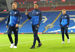 Ipswich Town players inspect the pitch prior to kick-off - Mandatory by-line: Nizaam Jones/JMP - 31/10/2017 -  FOOTBALL - Cardiff City Stadium- Cardiff, Wales -  Cardiff City v Ipswich  Town- Sky Bet Championship