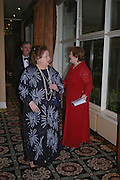 Alexandra Eversall and Ros Kerry. Kensington and Chelsea LEPRA Committee Ball. Savoy. 21 April 2005. ONE TIME USE ONLY - DO NOT ARCHIVE  © Copyright Photograph by Dafydd Jones 66 Stockwell Park Rd. London SW9 0DA Tel 020 7733 0108 www.dafjones.com