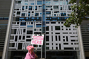 Anti-Deportation protesters 'Reclaim the Power' protest against Human Rights in UK immigration detention centres, outside the Home Office on Marsham Street, on 29th July 2019, in London, England. The All African Women's Group highlighted the plight of asylum seekers in the Home Office's detention centres, and in particular, at Yarlswood.
