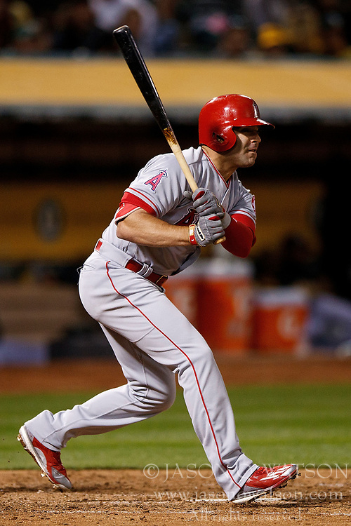 OAKLAND, CA - APRIL 04:  Danny Espinosa #3 of the Los Angeles Angels of Anaheim at bat against the Oakland Athletics during the seventh inning at the Oakland Coliseum on April 4, 2017 in Oakland, California. The Los Angeles Angels of Anaheim defeated the Oakland Athletics 7-6. (Photo by Jason O. Watson/Getty Images) *** Local Caption *** Danny Espinosa