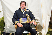 20150614 Ligny Belgium. The Battle of Ligny (16 June 1815) was the last victory of the military career of Napoleon I.Today it was re-enacted by 1500 people just a few days before the 200th birth day of Napoleon's final loss at Waterloo.