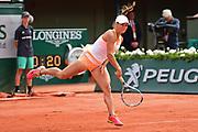 Yulia Putintseva (KAZ) during the preliminary rounds of the Roland Garros Tennis Open 2017 at  at Roland Garros Stadium, Paris, France on 2 June 2017. Photo by Jon Bromley.